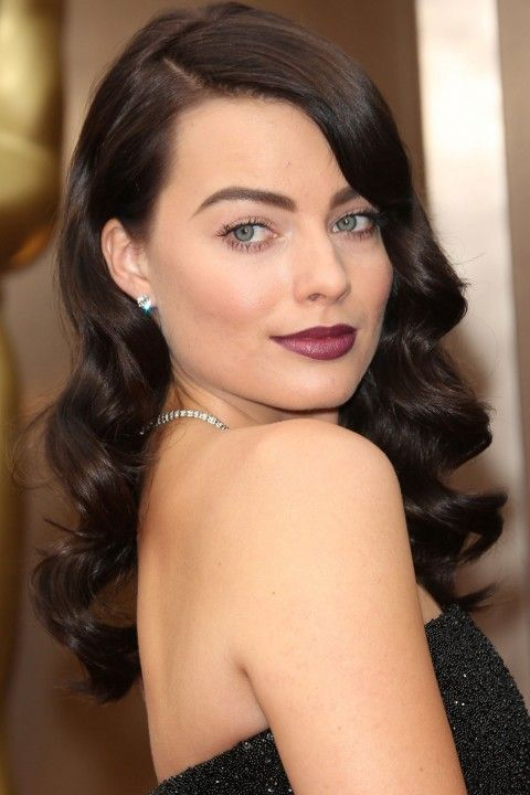 Margot Robbie with dark brown curls - Hair Colours: Inspiration From The Best A-List Hues