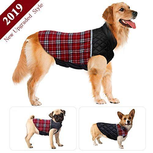 Meilimiyu Dog Jacket Winter Dog Coat Warm Dog Sweater Waterproof Dog Clothes Reflective Dogs Apparel 2019 Dog Vest Reversible Dogs Cold Weather Coats Large Dog Sweaters Cold Weather Dogs Waterproof Dog Coats