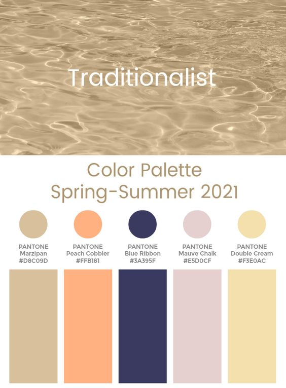 Trend Color Palette Spring-Summer 2021 Traditionalist #color #trends