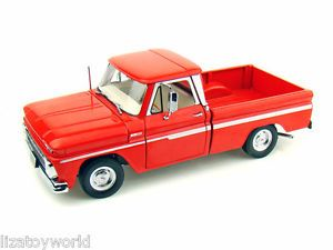 1965 Chevy C-10 Styleside Pick Up Truck RED 1/18 Scale by Sun Star NEW IN BOX