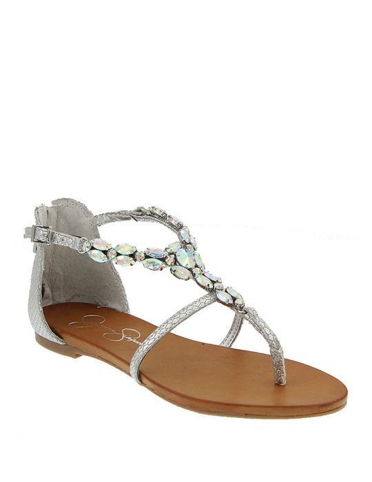 Whitten Jeweled Flat Thong Sandals