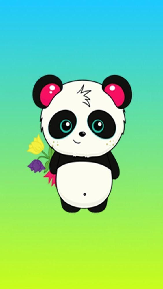 Pin By Hollie Clark On Color Pages Cute Panda Wallpaper Panda Wallpapers Kawaii Drawings