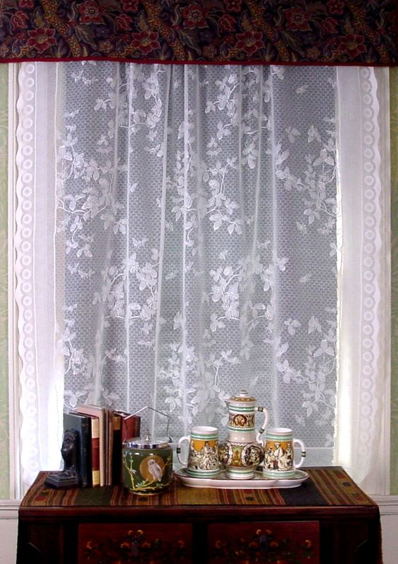 Honeybee Lace Curtains in Parlor Window JB Burrow & Co. | For the ...