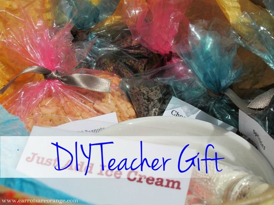 "Inspired by an idea shared by @Laurie Turk TipJunkie.com, I took the DIY Teacher Gift ""Just Add Ice Cream"" concept and executed it in the best way I knew how! It was a lot of fun! Enjoy!  What are your favorite teacher gifts?"