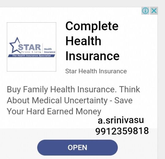 Starhealth Insurance Hyderabad Health Insurance Insurance