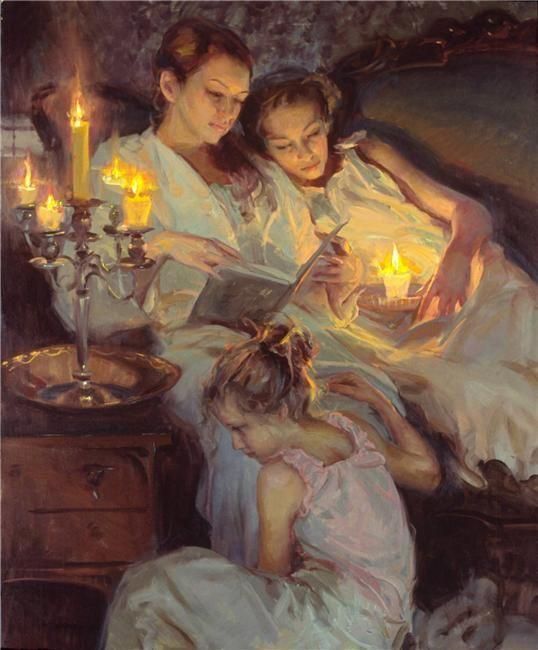 Sweet dreams..  Painting by Daniel F. Gerhartz pic.twitter.com/GvCNvbDXXn: