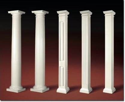 Decorative crown molding ideas pillars autos post for Decorative fiberglass columns