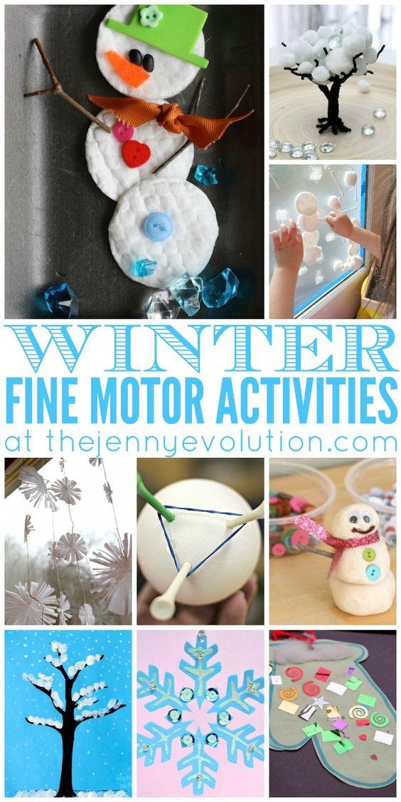 Fine motor winter activities for preschoolers activities for Fine motor activities for kindergarten