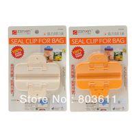 2pcs saco plástico de vedação Bag Sealer Clipe Grampo para casa de armazenamento de alimentos