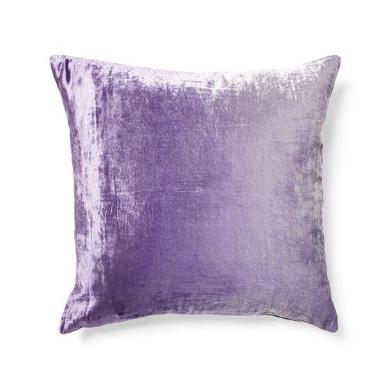 Purple Ombre Velvet Pillow