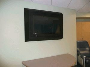 patient room ligature resistant TV enclosure