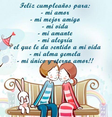 Feliz Cumpleanos Mi Amor Imagenes Y Frases Imagenes Para Whatsapp Happy Birthday Wishes Cards Happy Birthday My Love Romantic Birthday Wishes