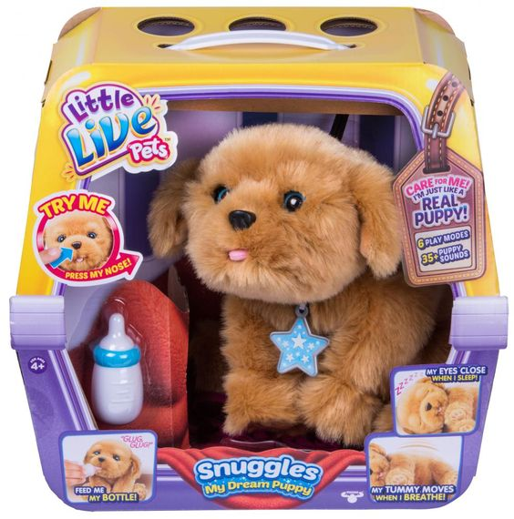 Rollie My Kissing Puppy Little Live Pets Puppy Snuggles Pet