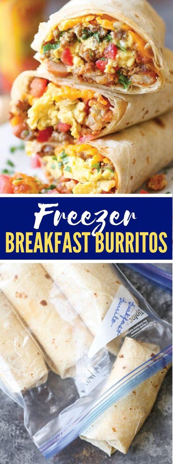 FREEZER BREAKFAST BURRITOS #food #recipes #breakfast #lunch #freezerfriendly