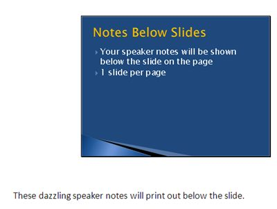 How to Converting PowerPoint 2010 Slide Shows to Word Documents: Print Speaker Notes Below Slides on Handouts