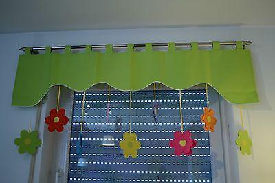 Vorhang Fensterdeko Kindergardine Motiv grün 140 - 180cm Handarbeit
