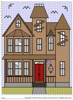 These coordinate graphing projects are fun for the student and make a great bulletin board idea as well.  This project can be used for Halloween.  Students will use their knowledge of coordinate graphing and ordered pairs to work creating a drawing of a haunted house.
