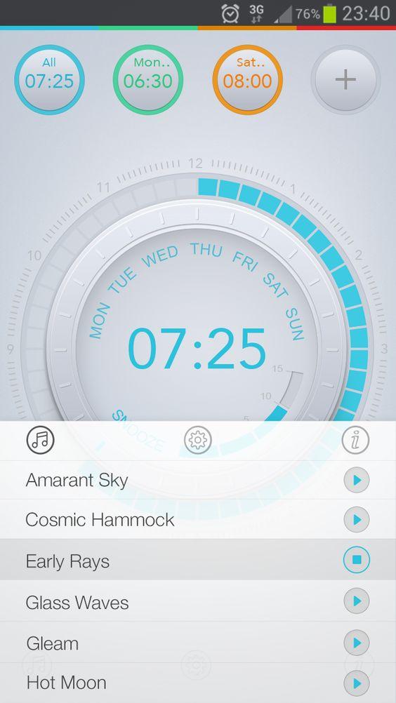 Alarm clock melodies list.