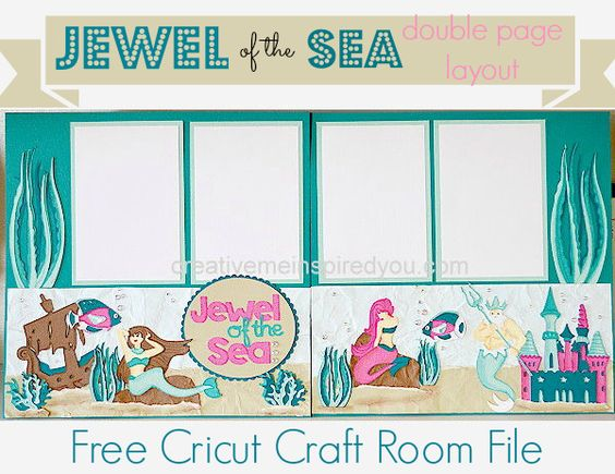 Scrapbook layouts of the seas and cricut on pinterest for Cricut craft room fonts