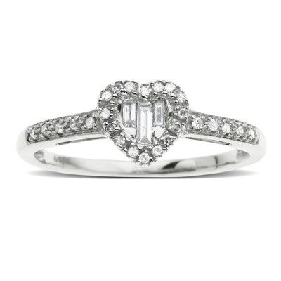 I know it's small, but I love this as an engagement ring. And it's only $199.99!! :)