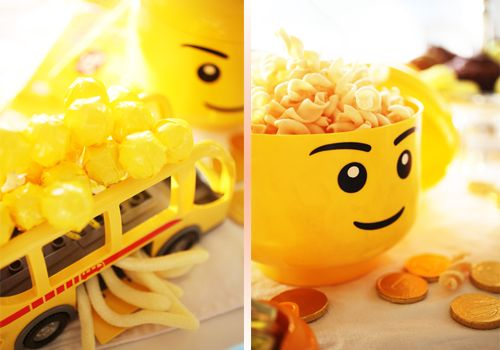 kids yellow lego birthday