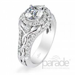 Riddle's Jewelry Ladies Parade™ White Gold Diamond Semi-Mount (16419779)