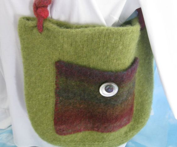 Hey, I found this really awesome Etsy listing at https://www.etsy.com/listing/203770205/felted-tote-hand-knit-purse-one-of-a