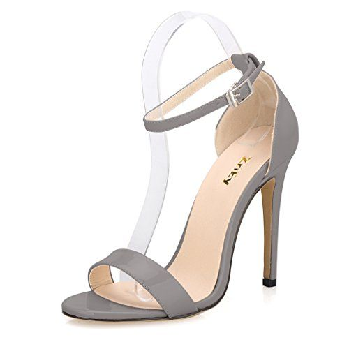 ZriEy(TM) Women's Ladies Strappy High Heel Sandals Ankle Strap ...