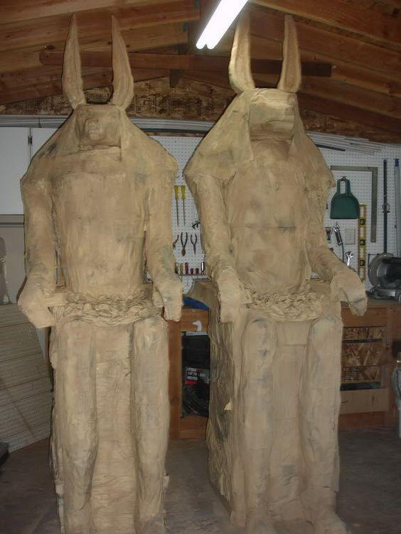 Anu Paa Greek Anubis Halloween Mummy Prop Egyptian Halloween Anubis Statue