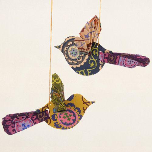 Hanging Paper Birds Medium set 2 Paper Art Pinterest Uccelli