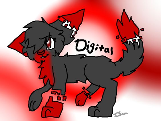 Request for @DigitalGamer08 her oc Digital! Hope you like it! 3 more request are open!! (@warriorcats973)