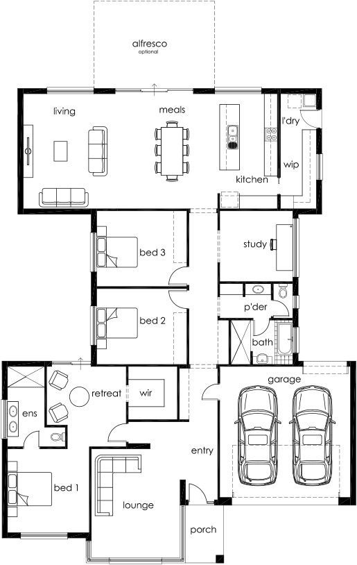 Rf 275 By Affordable Family Homes From 170 850 Floorplans Facades Display Homes And More Ibuildnew House Plans New House Plans Floor Plan Layout
