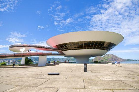 Niterói Contemporary Art Museum – Rio de Janeiro, Brazil; designed by Oscar Niemeyer, built in 1996.