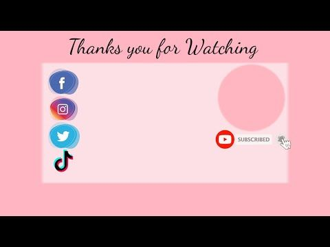 Free Outro Pink Template No Text No Copyright Youtube Youtube Banner Template Video Design Youtube First Youtube Video Ideas