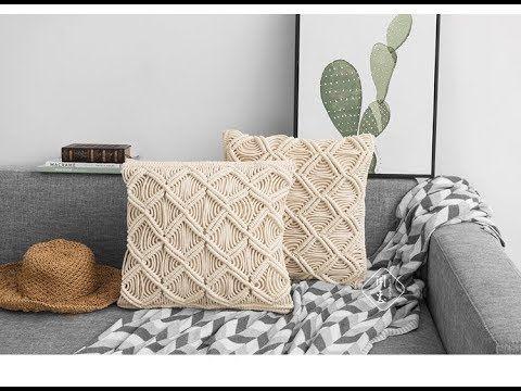 闲惠shweave Diy Macrame Pillow Tutorail 30 Youtube Macrame Diy Pillow Tutorial Pillows