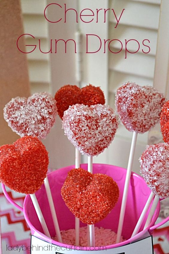 Cherry Gum Drops | Easy to make and delicious too!