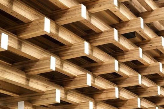 Geometrically stacked beam structure