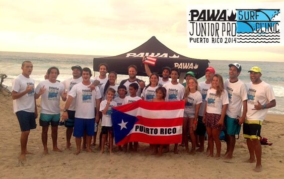 Pawa surf clinic #pawasurf #surfpuertorico Thanks to everyone, stoked all the way......