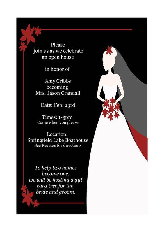 Red Black White Wedding Shower invitations Keywords redblack – Black and White Wedding Shower Invitations