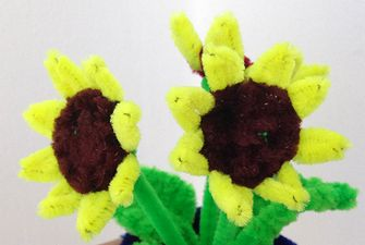 pipe cleaner sunflower video tutorial