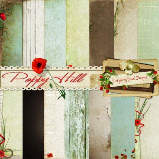Poppy Hill Paper Set - $1.99 : Raspberry Road Designs