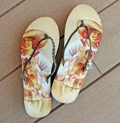 cowgirl flip flops