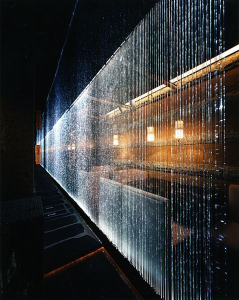 Fiber Optics Curtain By Hashimoto Yukio Project Teiryo Gardening Idea Fiber Optic Lighting Water Curtain Fibre Optics