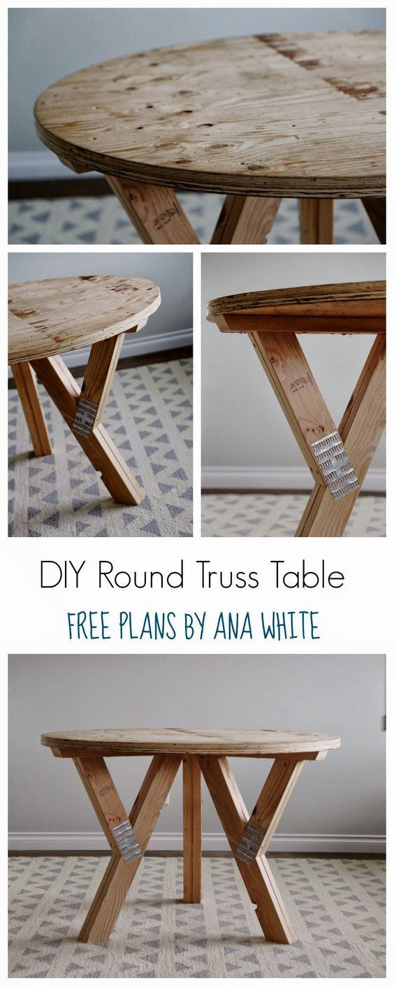 Ana White Build A Y Truss Round Table Free And Easy