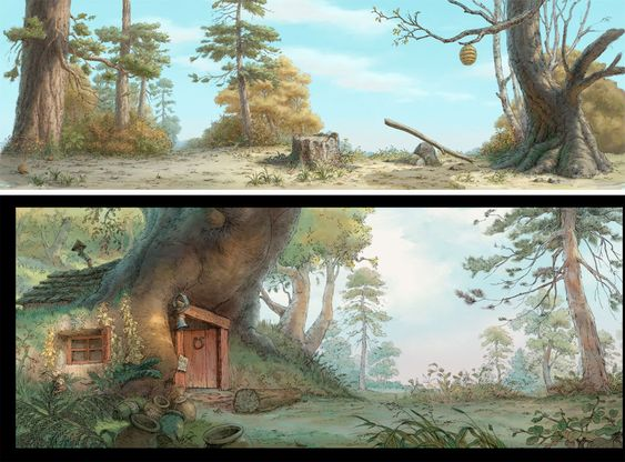 Classic Backgrounds from Winnie the Pooh, by Robert J. St. Pierre