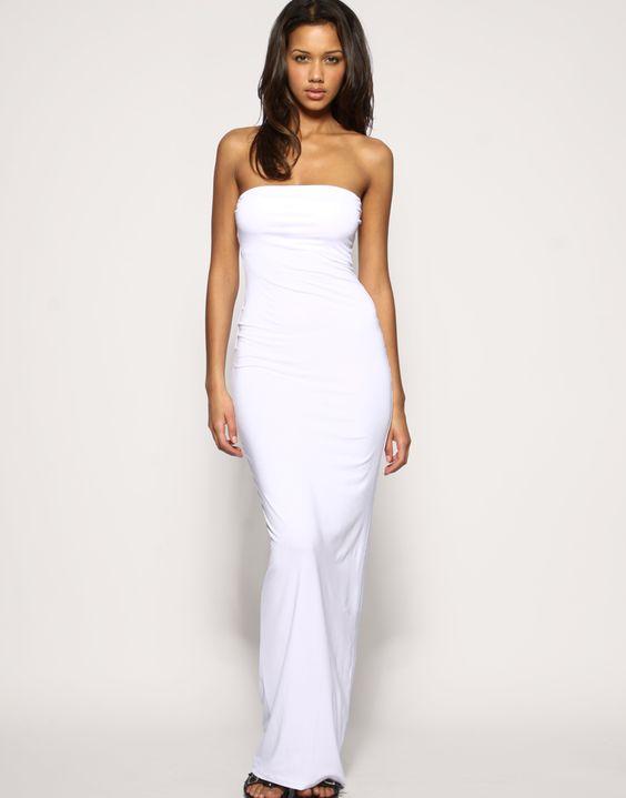 ASOS boob tube maxi dress  Dresses  Pinterest  Maxis Jersey ...