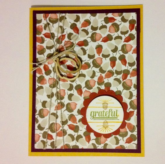 Color Me Autumn Gratitude for Days - Grateful | Midnight Crafting Stampin' Up! Handmade Card Fall #cardmaking ideas