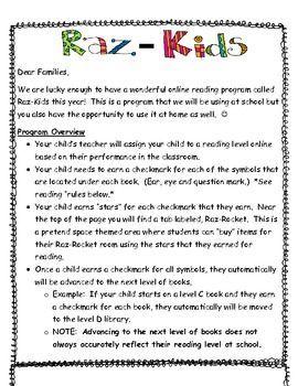 Raz-kids assignment