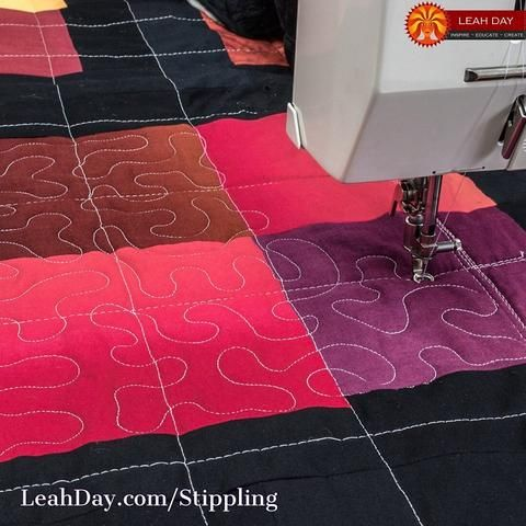 Learn How To Free Motion Quilt Stippling Or Meandering Leahday Com Free Motion Quilting Patterns Machine Quilting Patterns Sewing Machine Quilting