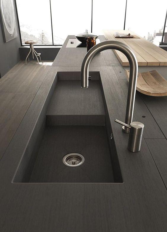 Modulnova Twenty Kitchen Design | Modern Italian Design @ DesignSpaceLondon . sink  .Modulnova Kitchens Blade